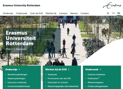 Erasmus Universiteit screenshot website