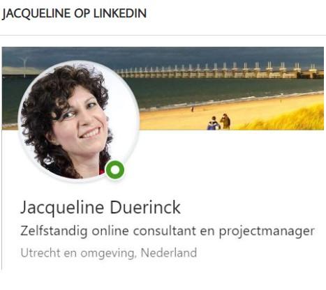 Jacqueline op LinkedIn