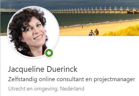 Jacqueline Duerinck op LinkedIn
