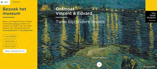 Website screenshot Van Gogh museum
